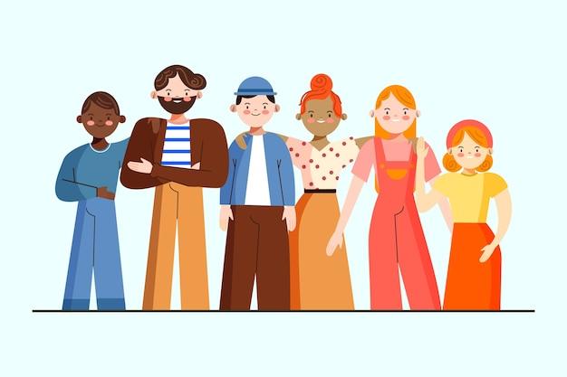 Gruppo di persone illustrazione