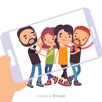 Gruppo di persone in posa per una foto