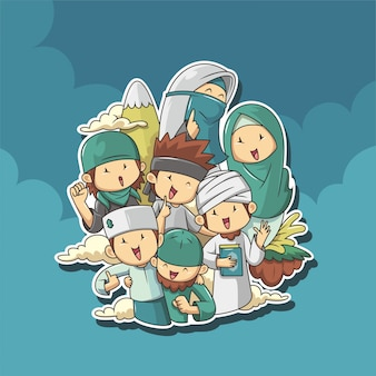 Gruppo di persone musulmane