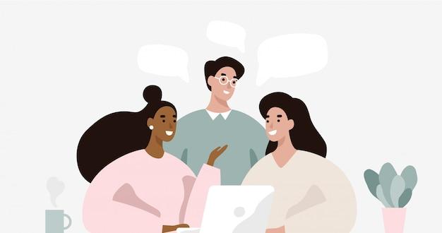 Gruppo di persone sulla riunione d'affari