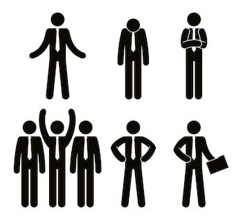 Gruppo di progettazione dell'illustrazione di vettore di lavoro di squadra della gente di affari