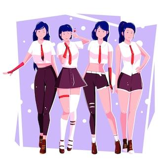 Gruppo di ragazze k-pop