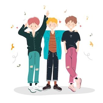 Gruppo di ragazzi cool k-pop
