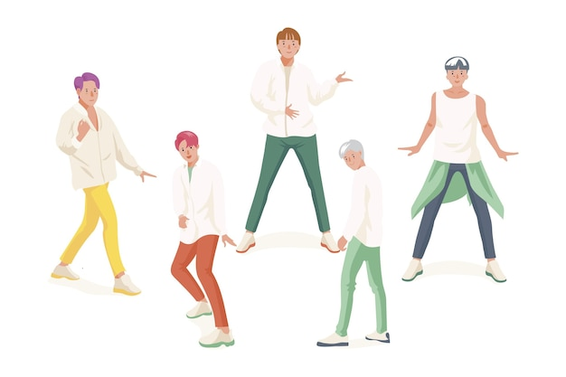 Gruppo di ragazzi k-pop