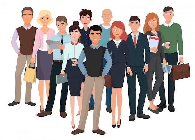 Gruppo di uomini e donne. team creativo