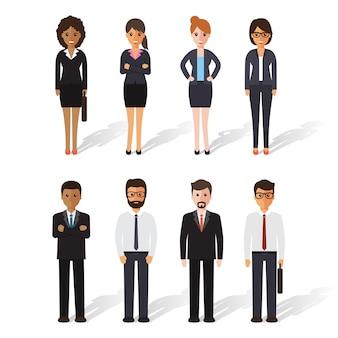Gruppo di uomo d'affari e d'affari al lavoro