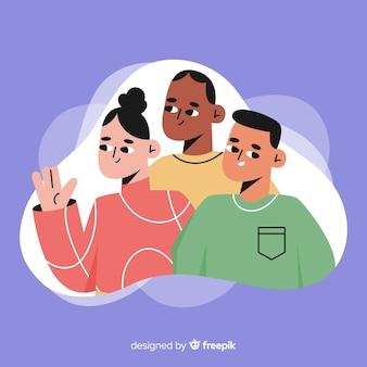 Gruppo multirazziale di persone diverse