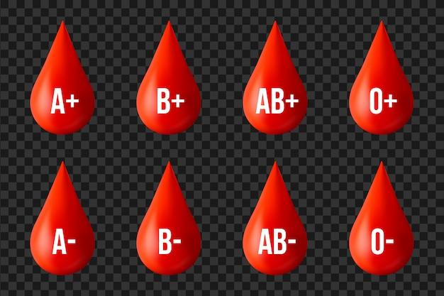 Gruppo sanguigno, elemento del giorno del donatore di medicina.
