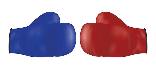 Guantone da boxe rosso e blu