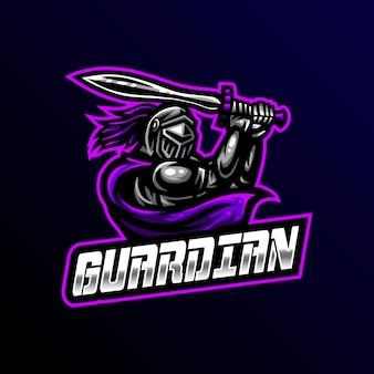 Guardian mascot logo esport gaming