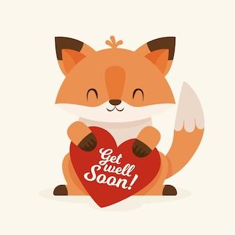Guarisci presto citazione e smiley fox