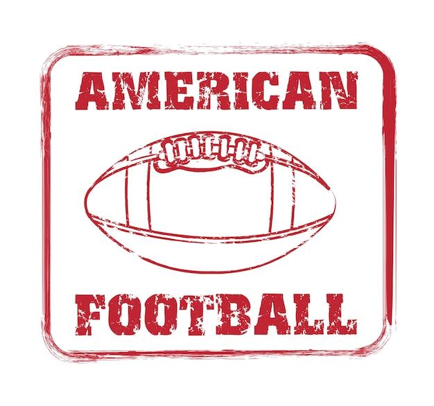 Guarnizione di football americano sopra illustrazione vettoriale sfondo bianco