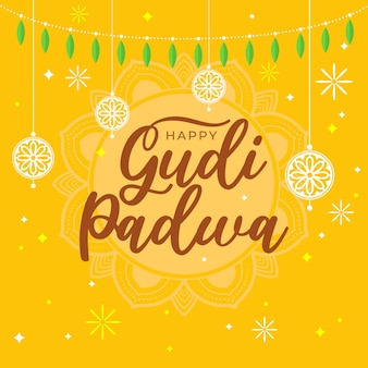 Gudi padwa in design piatto