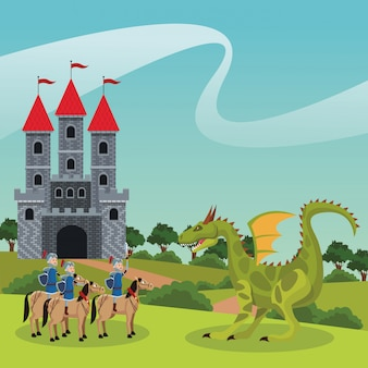 Guerrieri medievali del regno