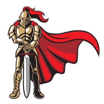 Guerriero cavaliere in armatura