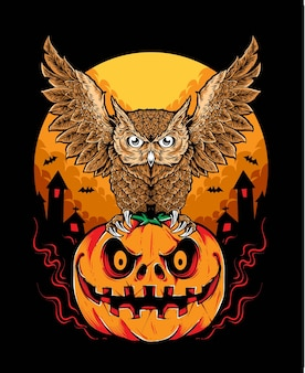 Gufo di halloween vettoriale
