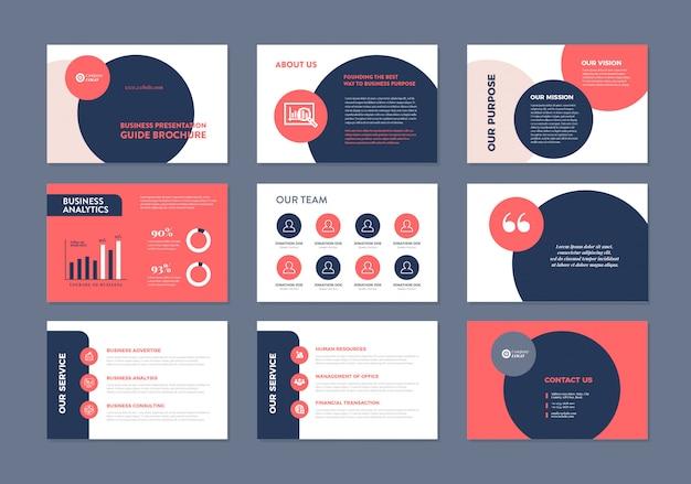 Guida alla presentazione aziendale design | modello di diapositiva powerpoint | cursore della guida alle vendite