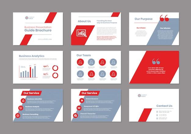 Guida alla presentazione aziendale progettazione | modello powerpoint | cursore della guida alle vendite
