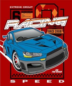 Guida stile auto da corsa