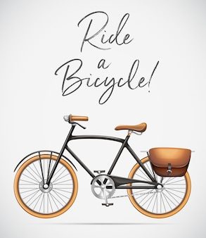 Guida una scena in bicicletta