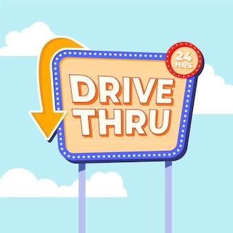 Guidare attraverso l'illustrazione del segno