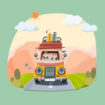 Guidare e viaggiare in vacanza