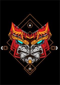 Gundam lineart con arte di alta qualità