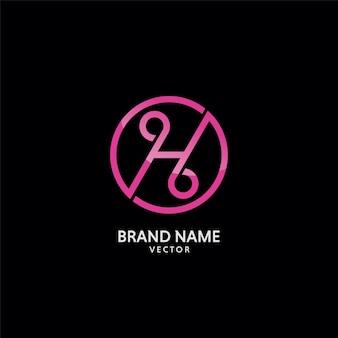 H monogram logo design
