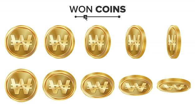 Ha vinto monete d'oro 3d