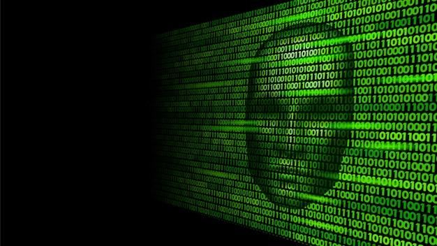Hacker intelligenza artificiale robot pericolo faccia scura, cyborg