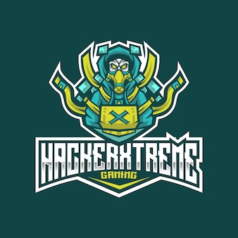 Hacker xtreme esport logo template