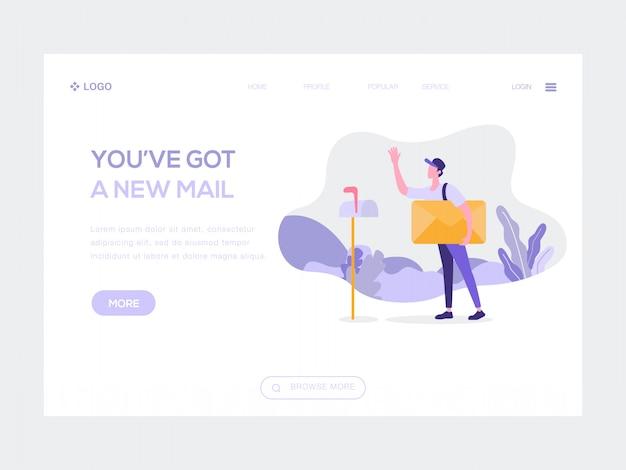 Hai una nuova illustrazione web per la posta