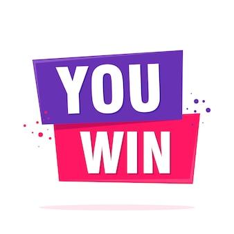 Hai vinto il tag celebration