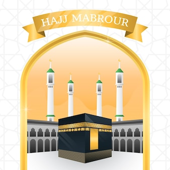 Hajj realistico concetto di pellegrinaggio islamico