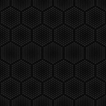 Halftone hexagons technology dark seamless pattern ripetitivo