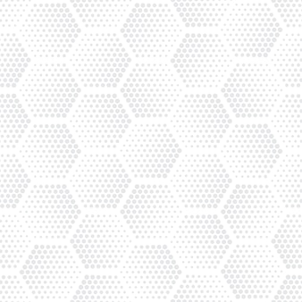 Halftone hexagons technology light seamless pattern ripetitivo