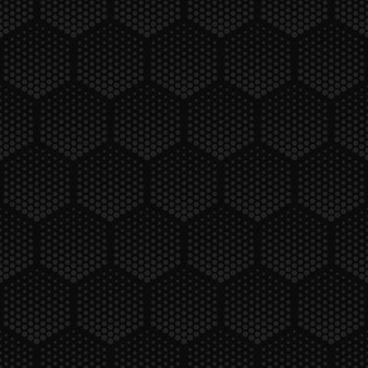 Halftone technology hexagons dark seamless pattern