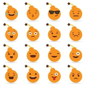 Halloween bomb emoticons