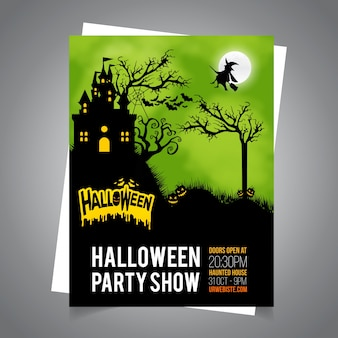Halloween card invitation.halloween card poster.halloween illustrazione della carta.