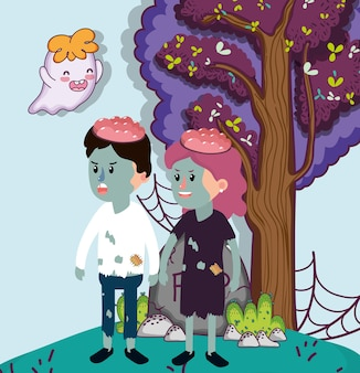 Halloween cartoni animati celebrazione bambini