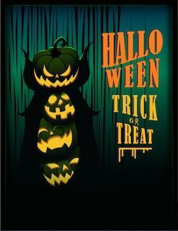Halloween dolcetto o scherzetto lettering e illustrazione