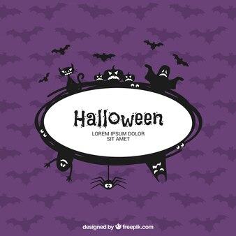 Halloween etichetta spaventoso