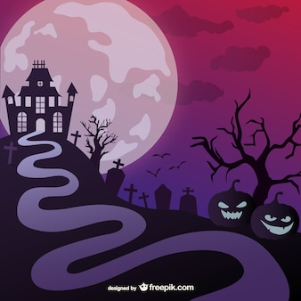 Halloween haunted castle illustrazione