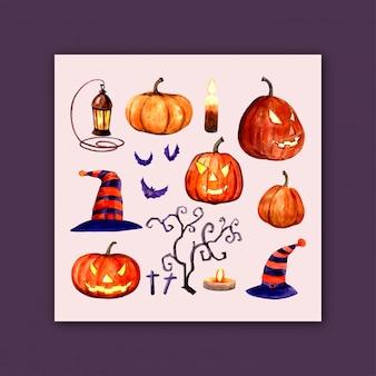 Halloween impostato per il design
