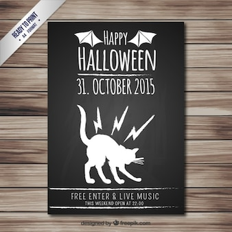 Halloween party poster in lavagna