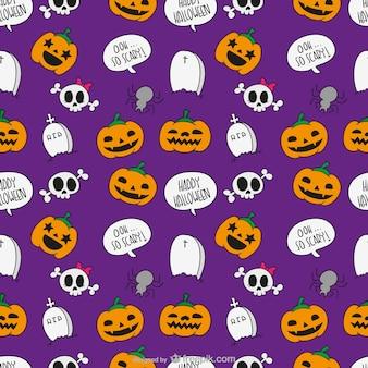Halloween pattern di cartone animato