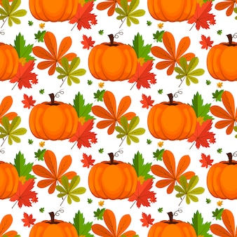 Halloween seamless. sfondo con zucca.
