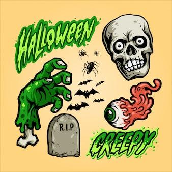 Halloween set vettoriale