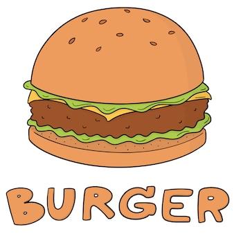 Hamburger di cartone animato