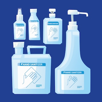 Handsanitizer countainer packaging collection set
